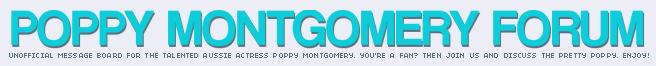 POPPYPETAL.ORG | Forum | A Poppy Montgomery fan community