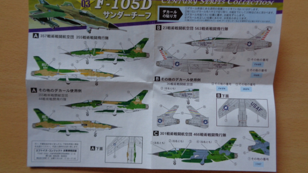 Republic F-105 Thunderchief 1/144 PLATZ  Dsc02211