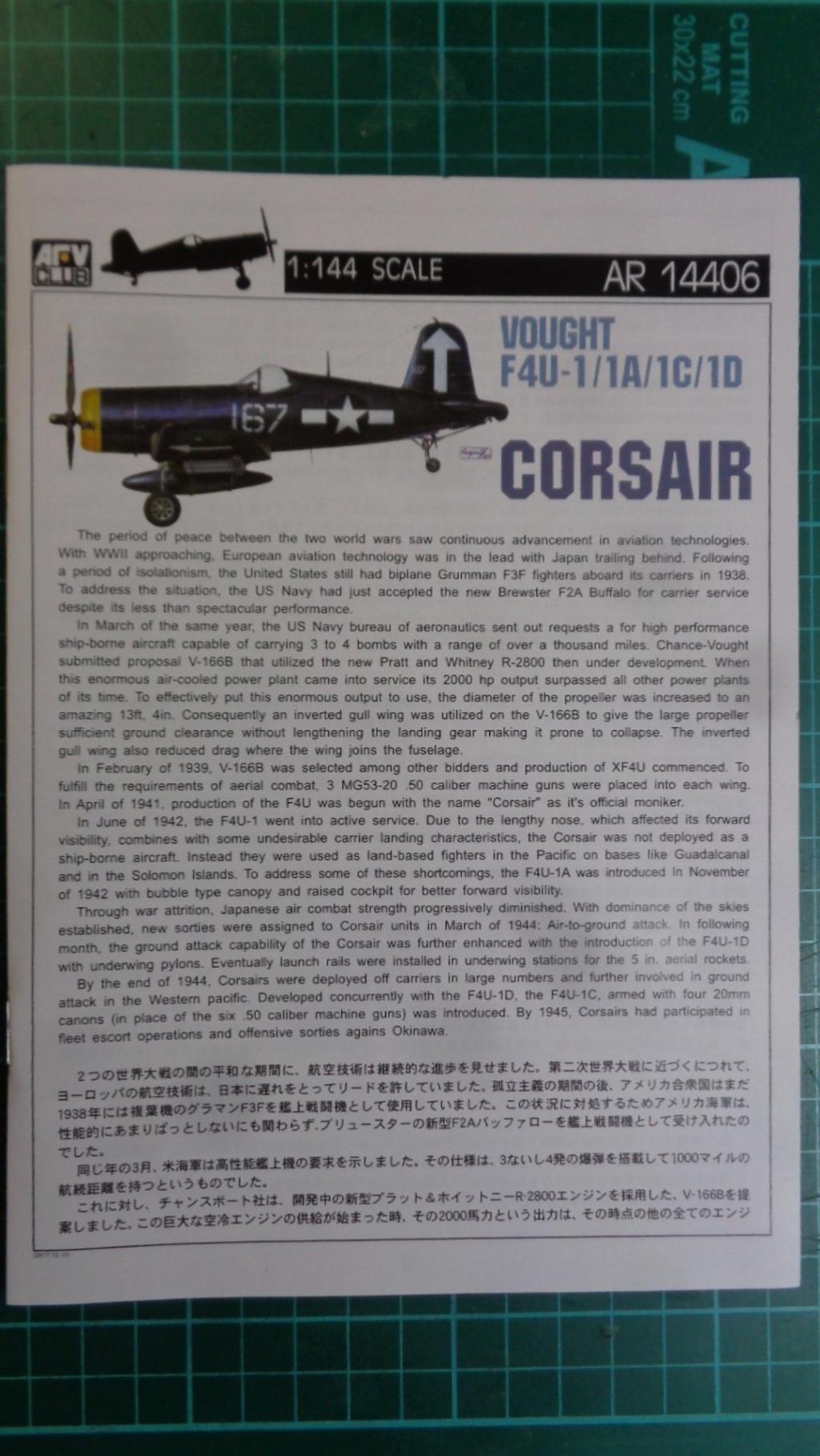 Chance Voudht CORSAIR  F4U 1; 1A; 1C; 1D AFV Club 1/144 Dsc04712