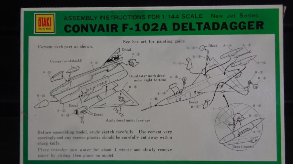 """CONVAIR F 102 A """"DELTA DAGGER"""" 1/144 ARII et Otaki 1/144 Dsc05739"""