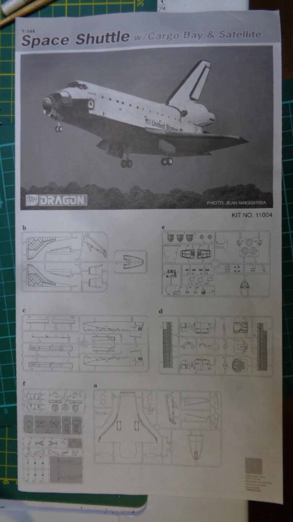 [DRAGON] Navette Spatial avec soute et satellite Réf  11004 1/144ème Dsc05747