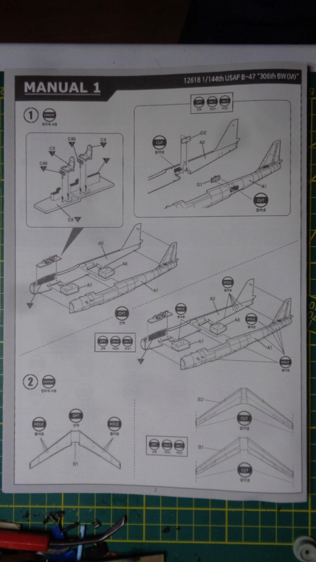Academy Boeing B 47 B, E & RB 47 H 1/144 Ref: 12618 Dsc05832