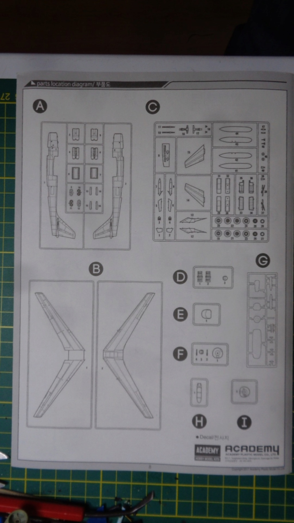 Academy Boeing B 47 B, E & RB 47 H 1/144 Ref: 12618 Dsc05838