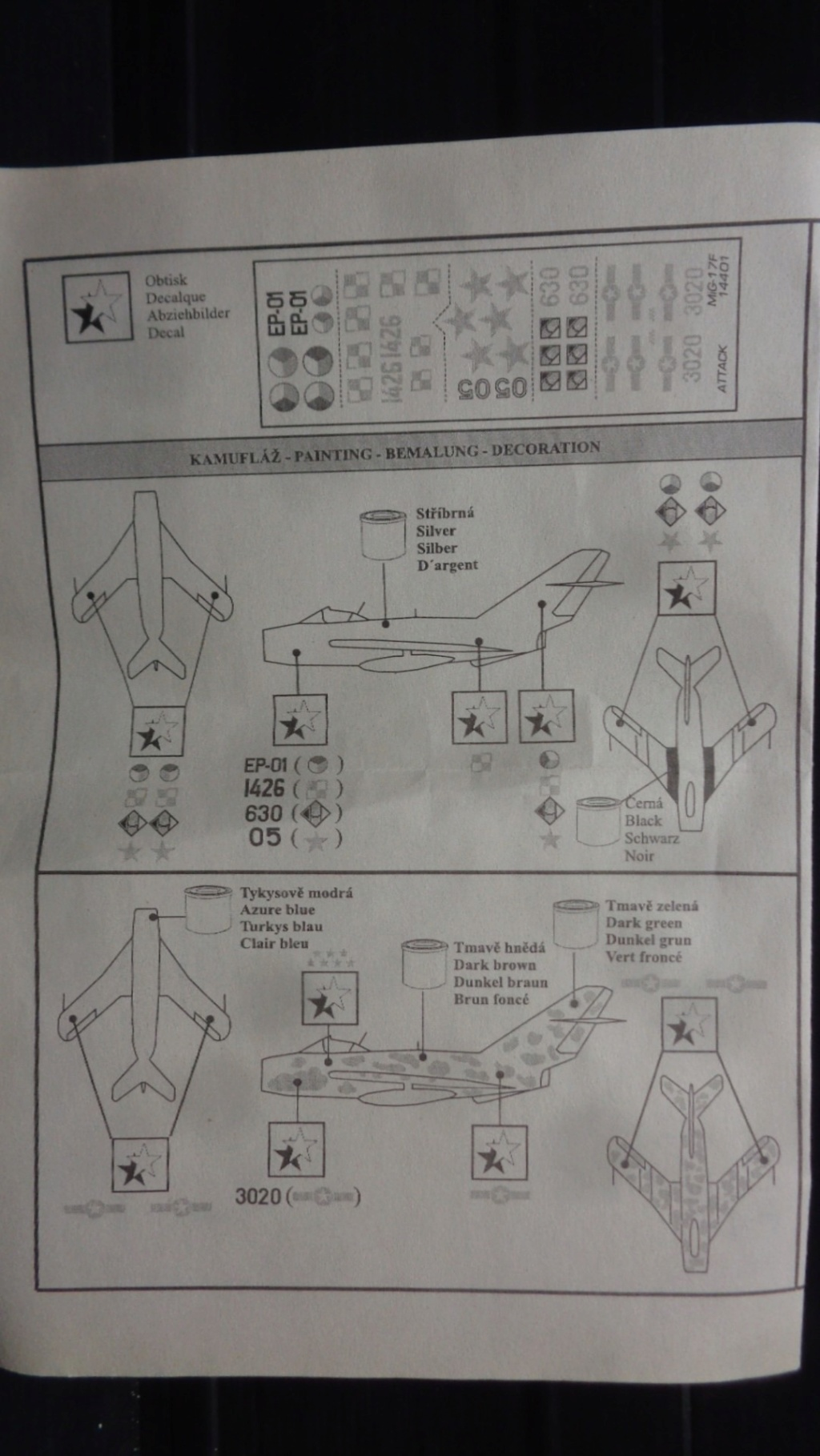 MIG 17 F  Attack Hobby Kits (Jach) 1/144 Dsc07549