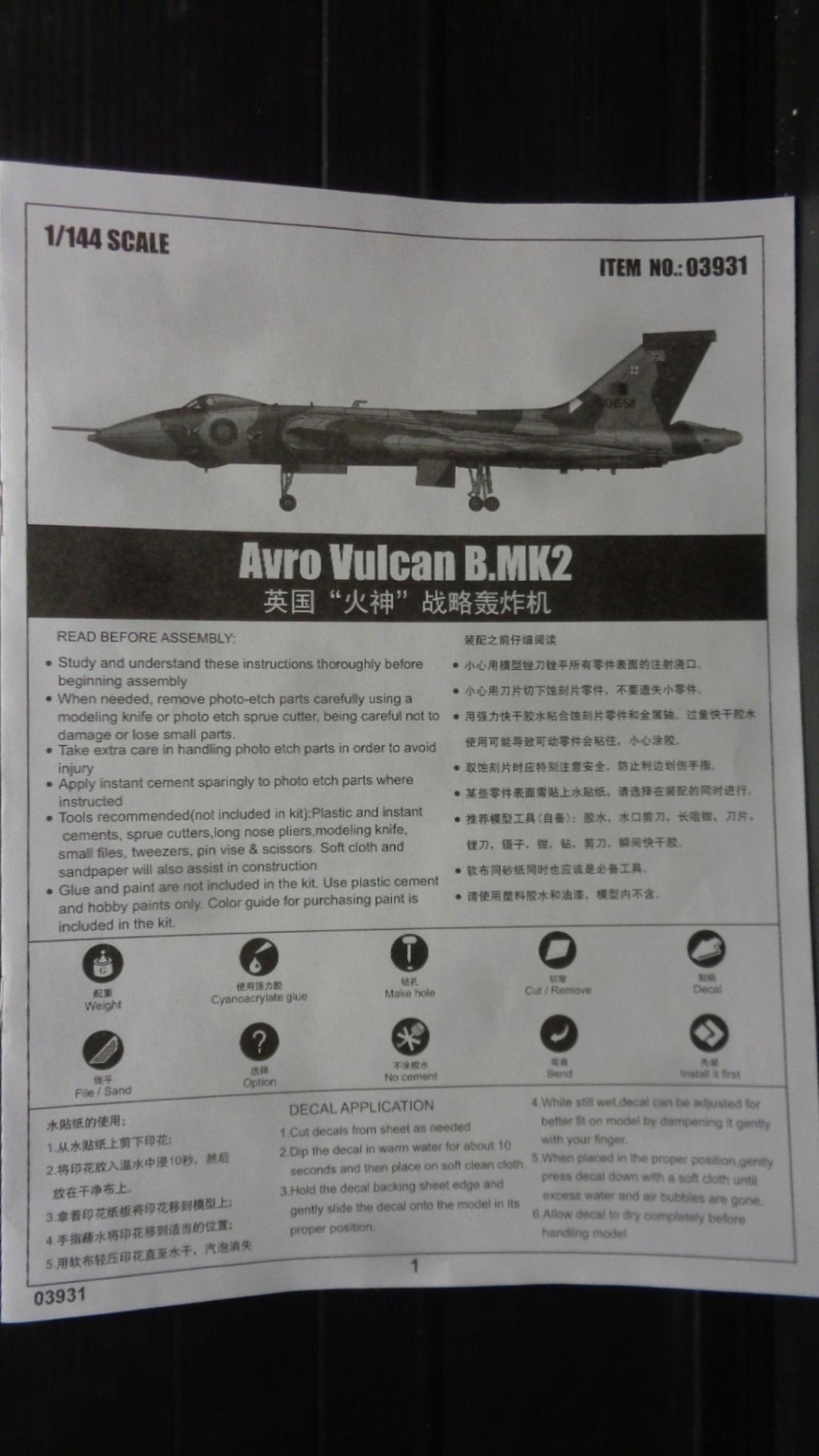 AVRO VULCAN B MK II Trumpeter 1/144 Dsc07575