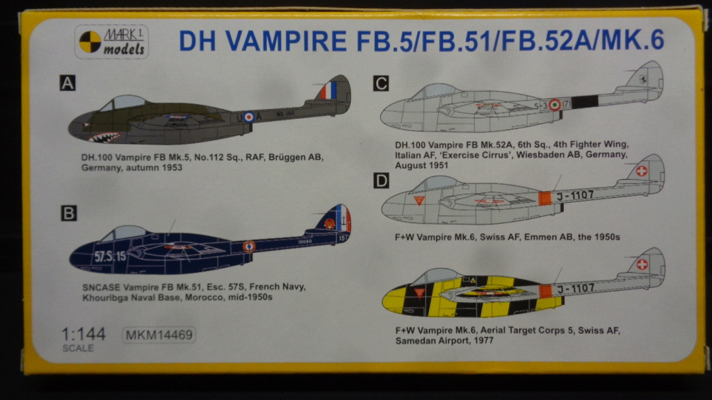 de Havilland Vampire FB.5/FB.51/FB.52A/Mk.6 Mark I Models 1:144 Dsc07629