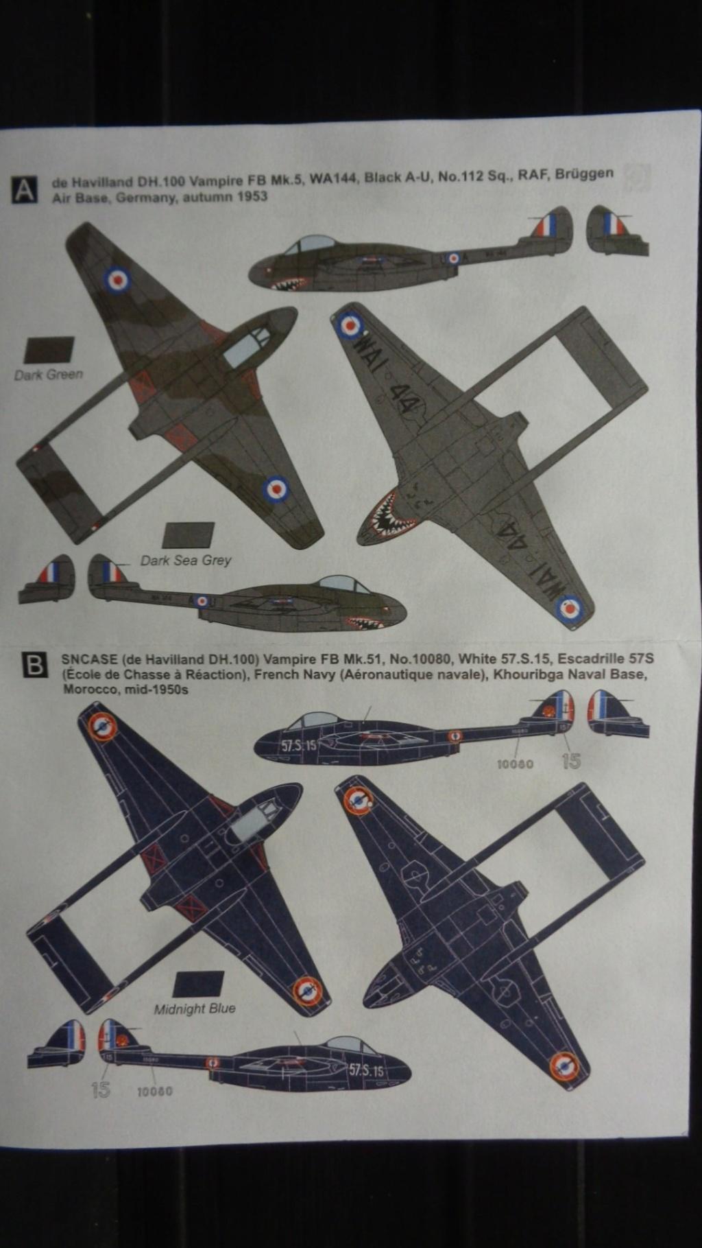 de Havilland Vampire FB.5/FB.51/FB.52A/Mk.6 Mark I Models 1:144 Dsc07632