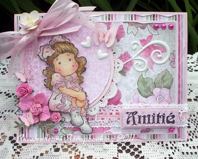 1 août - une carte Kraftin' Kimmie Stamps + une carte Magnolia... Claral81