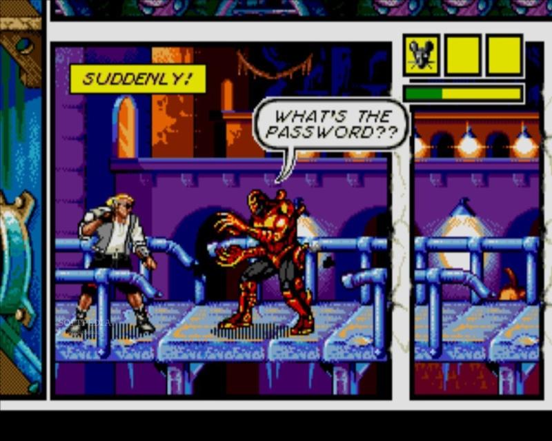 Comix Zone sur Sega Mégadrive 1995 Comixz10