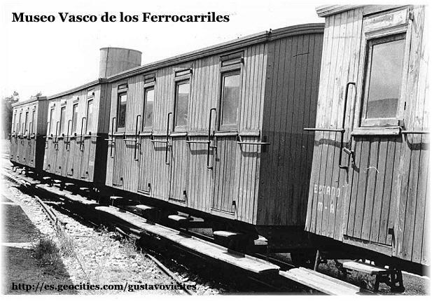 Vagons de fusta de via estreta Catalunya i Espanya Vagonv10