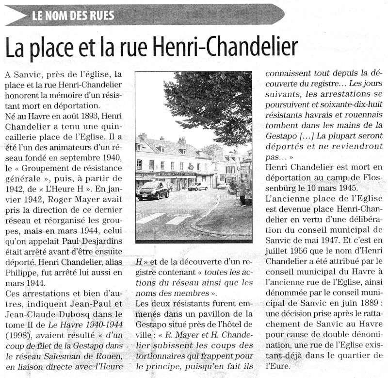 SANVIC - Sanvic - Place et rue Henri Chandelier 2012-021