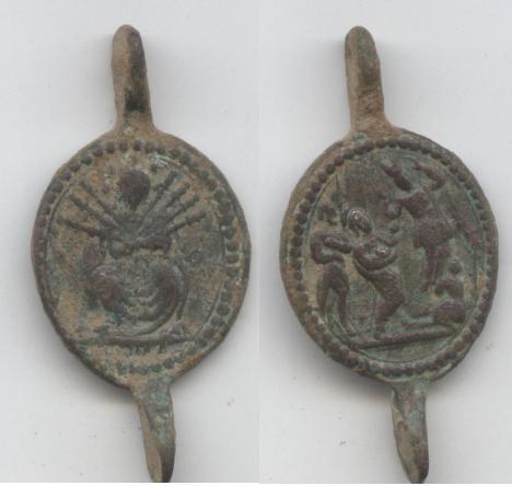medalla Virgen de los Siete Dolores / Presentacion de Jesus en el templo Dibujo18