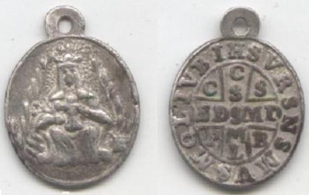 recopilación de medallas de San Benito Mont_x10