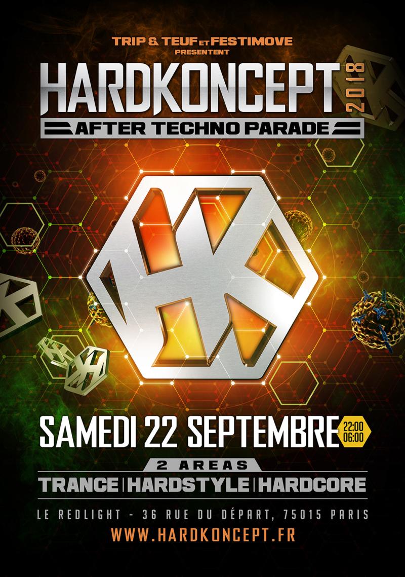 HardKoncept 2018 - Le Redlight - Paris - France Affich11