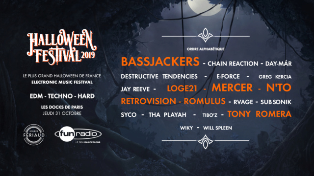 Halloween Festival 2019 - Jeudi 31 octobre 2019 - Les Docks de Paris - Aubervilliers Hf19-d11