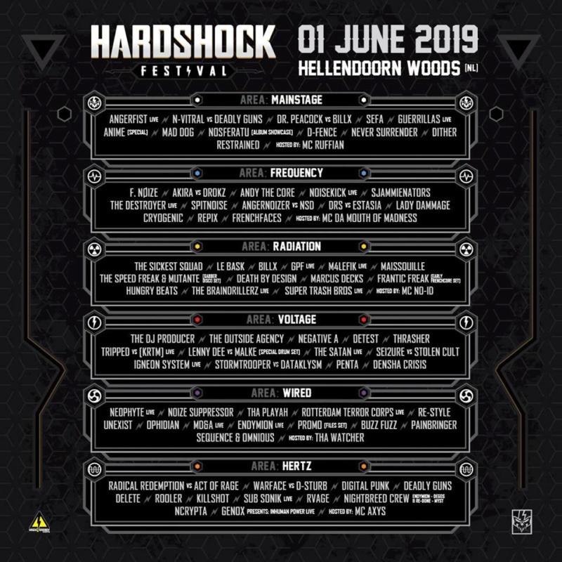 HARDSHOCK - Samedi 1er Juin 2019 - Hellendorn Woods - NL Lineup11