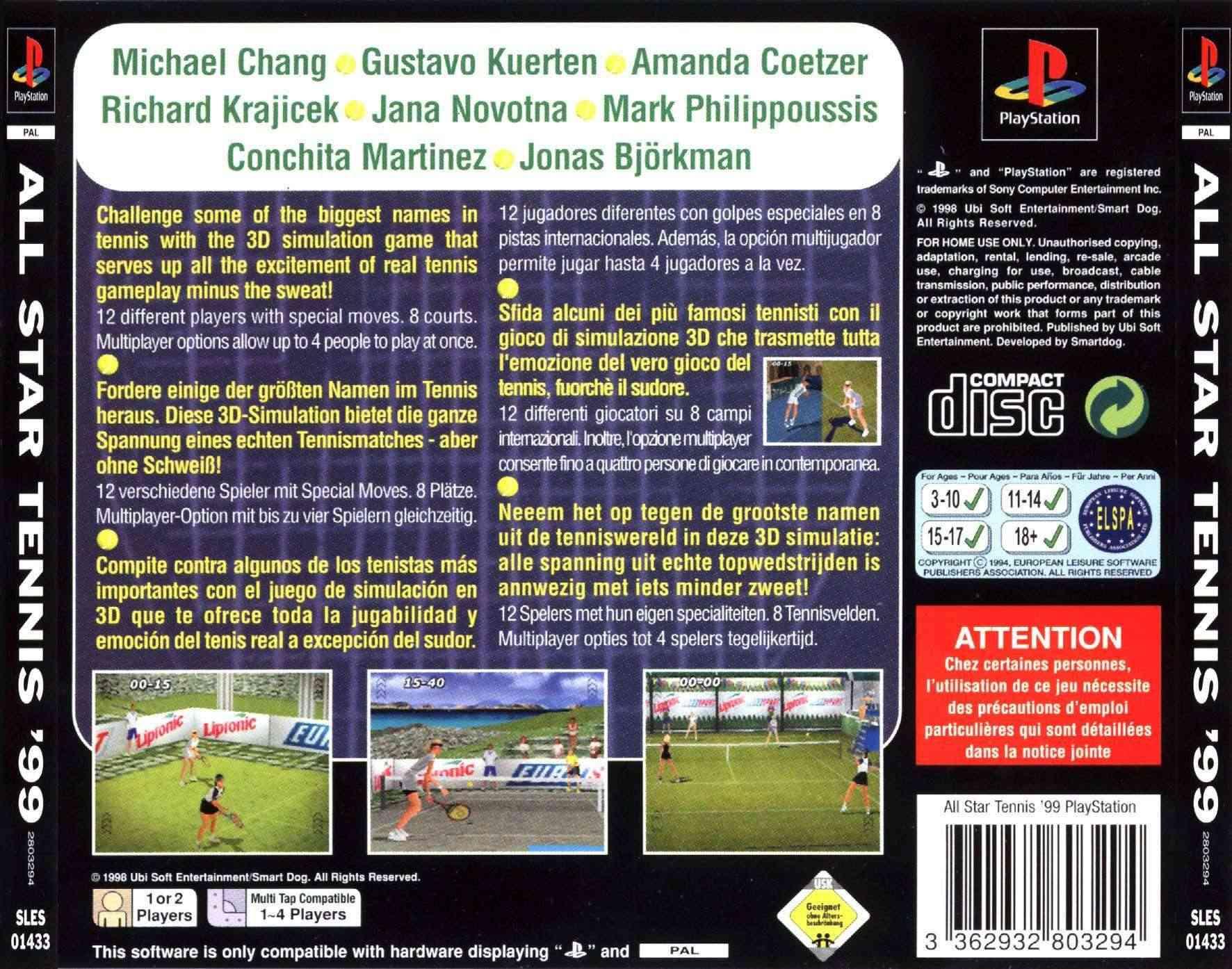 All Star Tennis 99 (PAL-MULTI5) All20s11