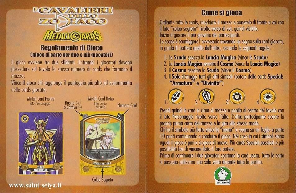 Cavalieri dello Zodiaco Metall©ards Metall14