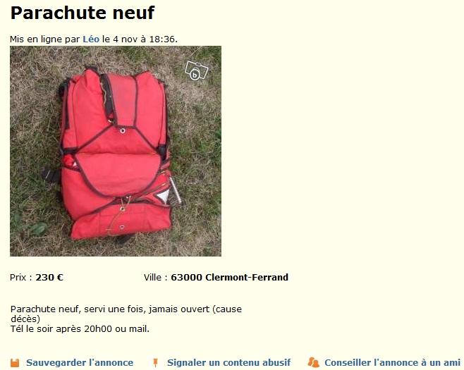 parachute à vendre Lebonc10