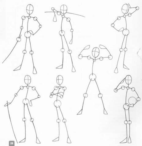 كيفية رسم الأنمي و اوضاع الجسم و حركته