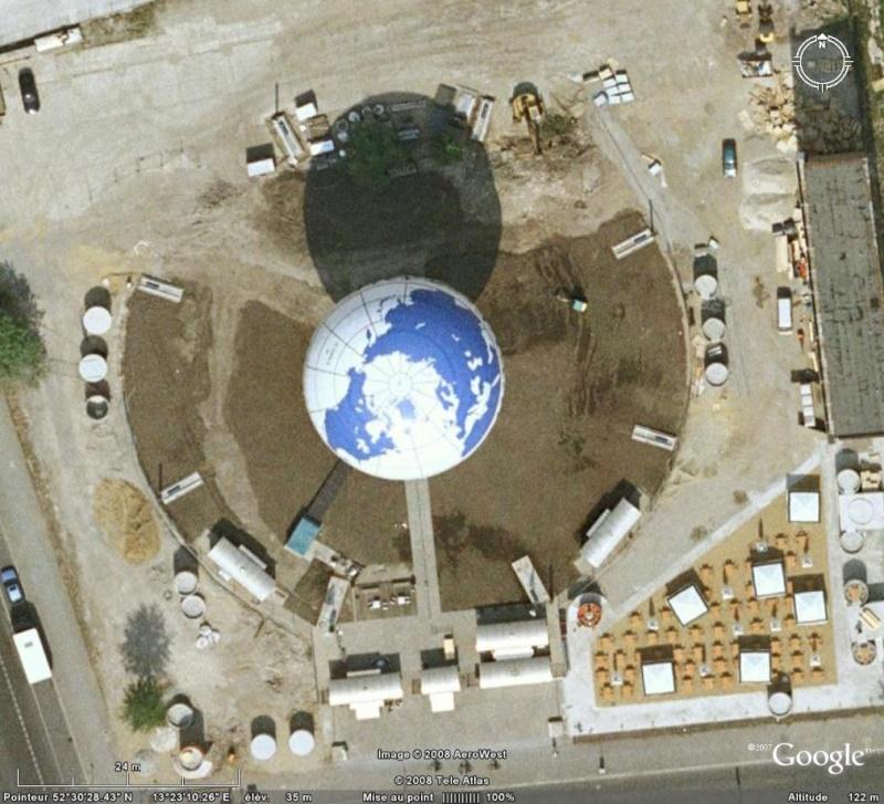 Globes terrestres visibles depuis les cieux Globe10