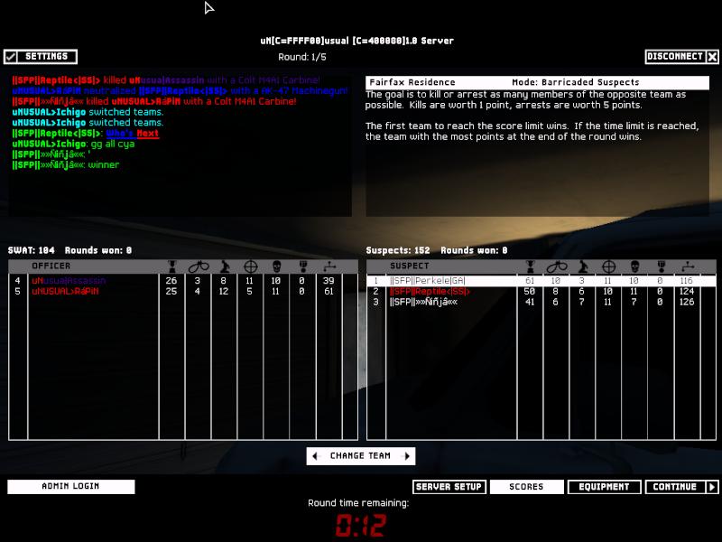SFP vs uNSUAL 1.3.08 Result 2-1 WON Swat4-12