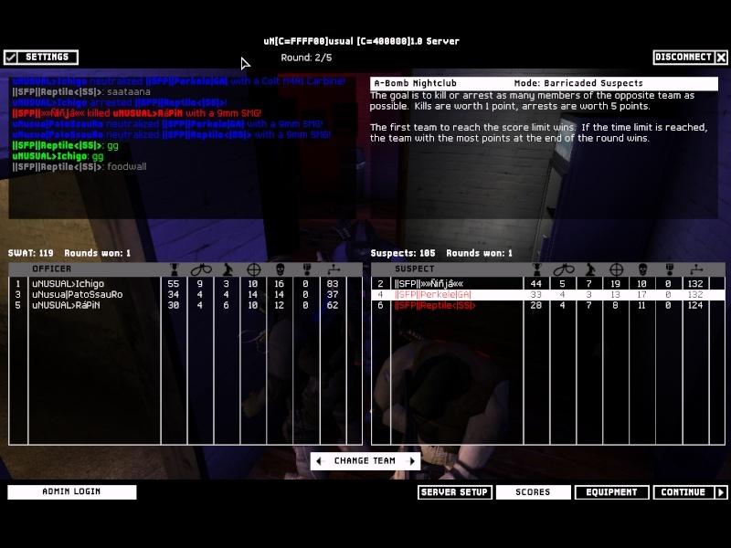 SFP vs uNSUAL 1.3.08 Result 2-1 WON Swat4-16