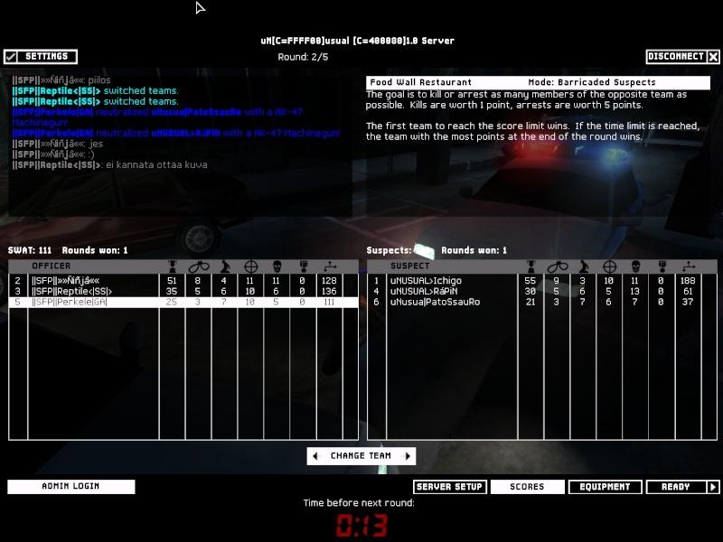 SFP vs uNSUAL 1.3.08 Result 2-1 WON Swat4-17