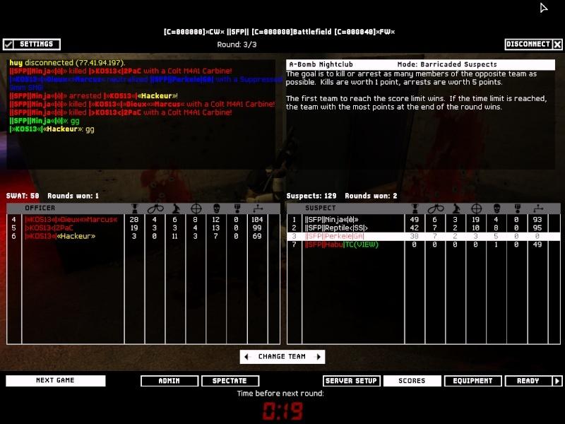 SFP vs KOS13 1.3.08 Result 2-1 WON Swat4-19