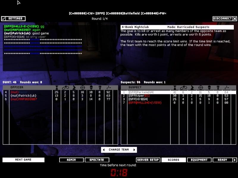 SFP vs Nut 15.3.08 Result 3-0 WON Swat4-24