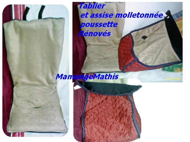tablier et assise molletonée poussette RENOVE Renove10
