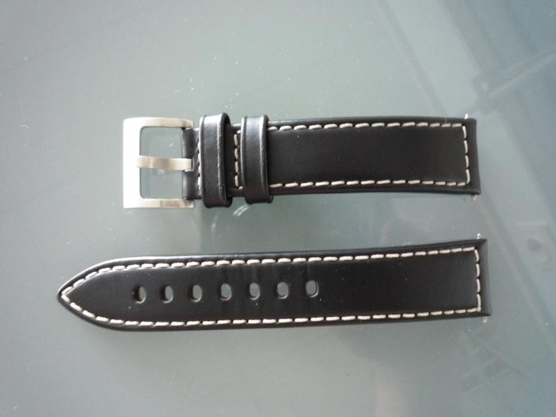 (VENDU) Bracelet cuir noir + boucle 20mm Hamilton 137