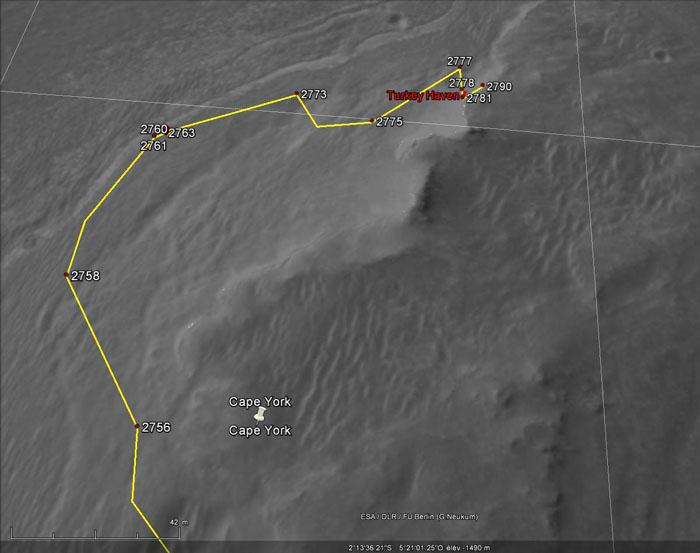 Opportunity et l'exploration du cratère Endeavour - Page 3 Havren10