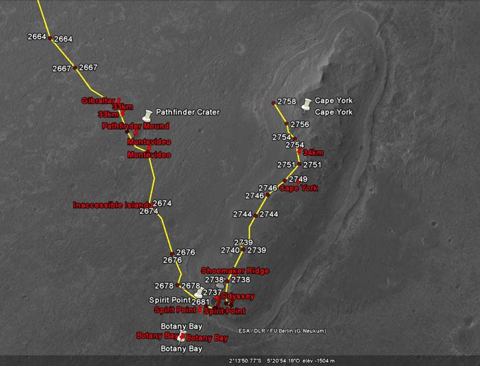 Opportunity et l'exploration du cratère Endeavour - Page 3 Oppy110