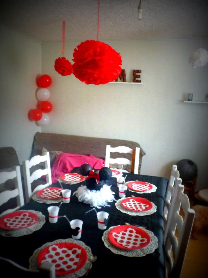 Déco anniversaire thème Minnie 1336