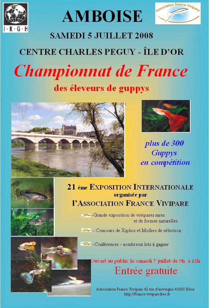 championnat de France des Eleveurs de Guppys Affich10