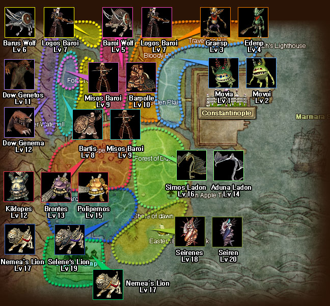 İSTANBUL MONSTER MAP (1-20 lvl) Ist10