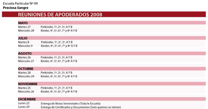 Calendario Reunión de apoderados 2008 Reunio10