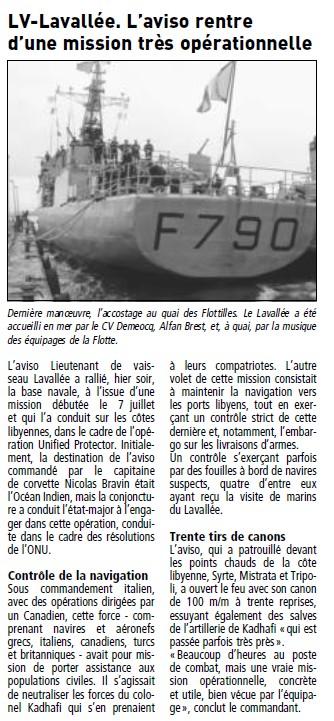 LIEUTENANT DE VAISSEAU LAVALLÉE (AVISO) - Page 2 Telegr70