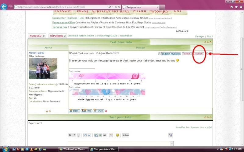 Mode d'emploi du forum  (editer un message, mettre une photo...) Lkjhgf11