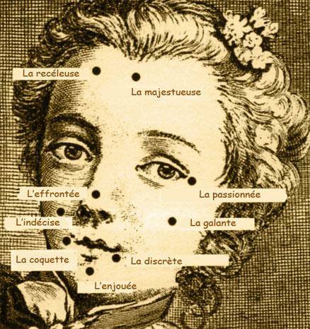 Soins de beauté, maquillage, et mouches au XVIIIe siècle Mouche10