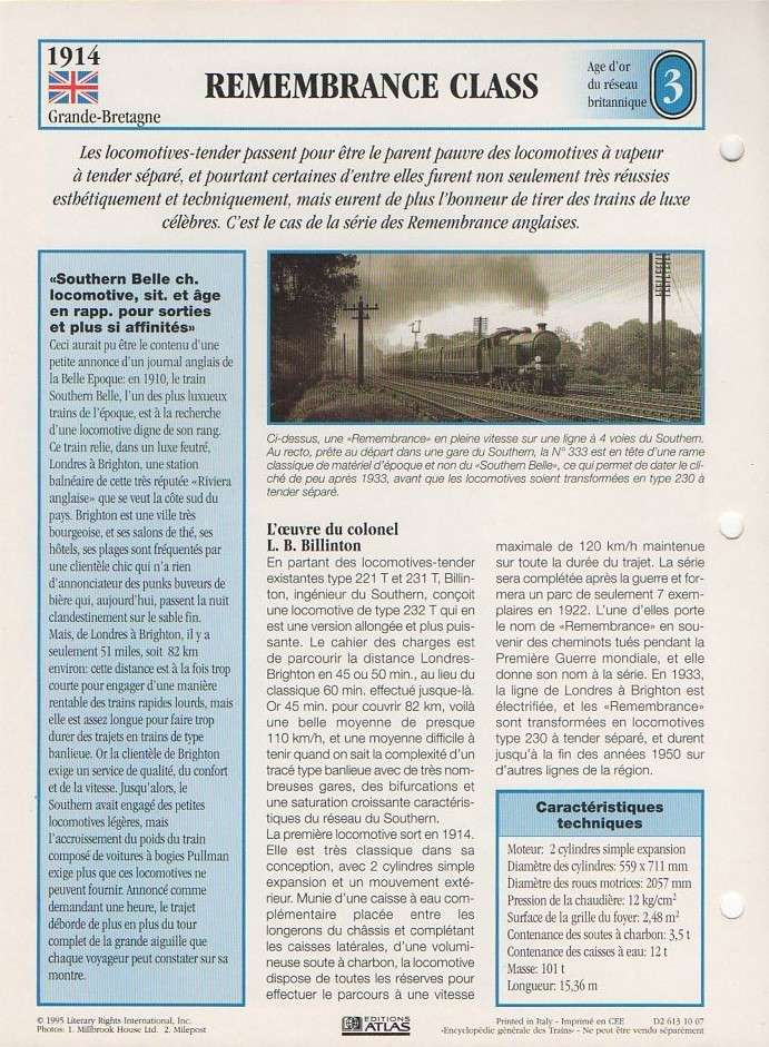 [Fiches Atlas] Trains de légende, éditions Atlas (1e partie) 04110