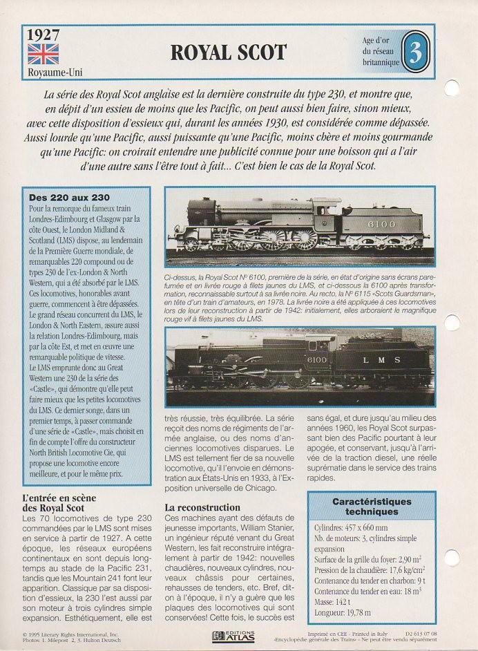 [Fiches Atlas] Trains de légende, éditions Atlas (1e partie) T04710