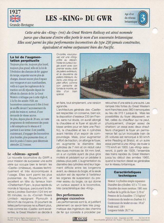 [Fiches Atlas] Trains de légende, éditions Atlas (1e partie) T04910