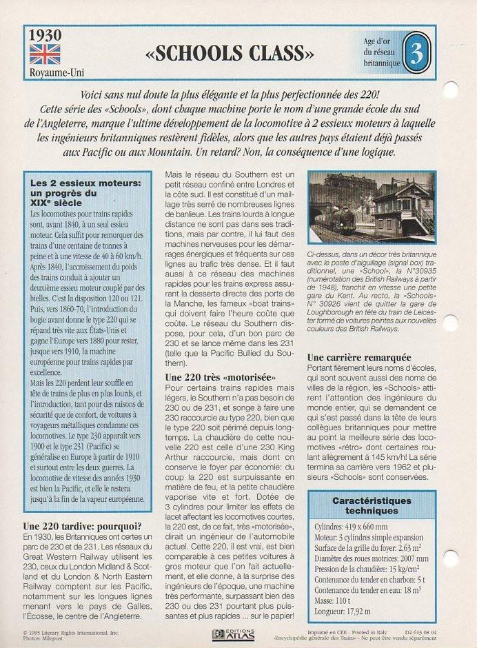 [Fiches Atlas] Trains de légende, éditions Atlas (1e partie) T05110