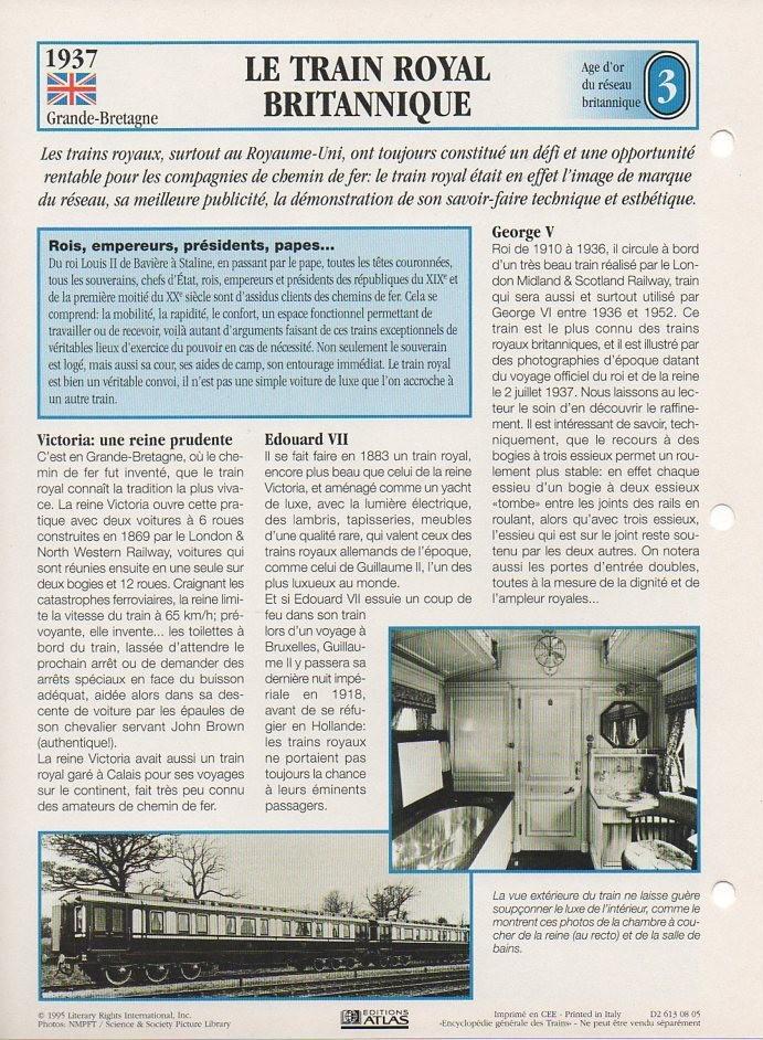 [Fiches Atlas] Trains de légende, éditions Atlas (1e partie) T05510