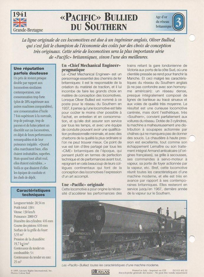 [Fiches Atlas] Trains de légende, éditions Atlas (1e partie) T05710