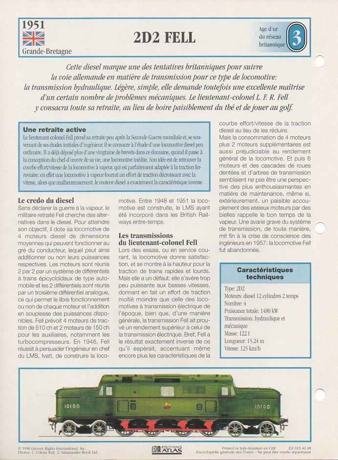 [Fiches Atlas] Trains de légende, éditions Atlas (1e partie) T05910