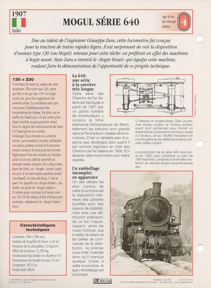 [Fiches Atlas] Trains de légende, éditions Atlas (1e partie) T06210