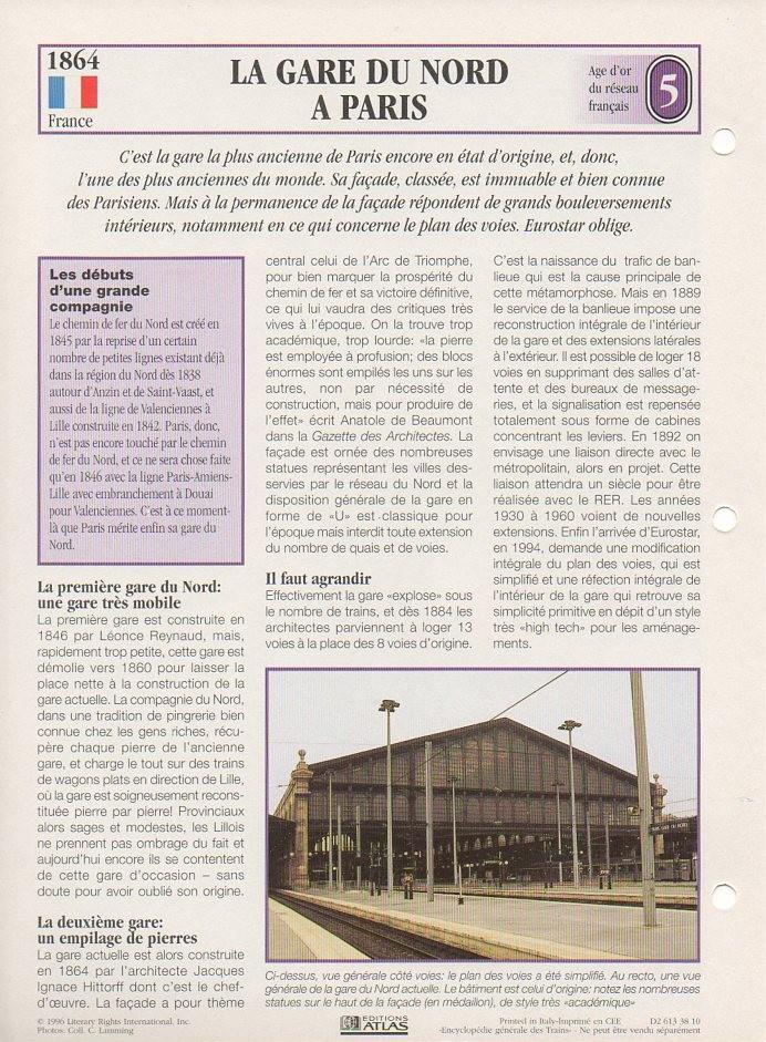 [Fiches Atlas] Trains de légende, éditions Atlas (1e partie) T07510